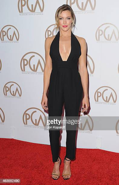 Actress Katie Cassidy arrives at the 26th Annual PGA Awards at the Hyatt Regency Century Plaza on January 24 2015 in Los Angeles California