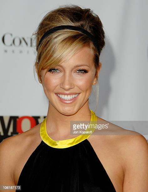 Actress Katie Cassidy arrives at the Conde Nast Media Group Presents 2007 Movies Rock at the Kodak Theatre on December 2, 2007 in Hollywood,...