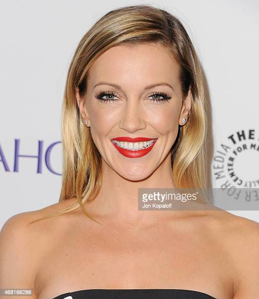 Actress Katie Cassidy arrives at The Paley Center For Media's 32nd Annual PALEYFEST LA Arrow And The Flash at Dolby Theatre on March 14 2015 in...