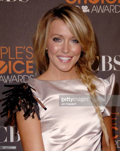Actress Katie Cassidy arrives at the People's Choice Awards 2010 Arrivals at Nokia Theatre LA Live on January 6 2010 in Los Angeles California
