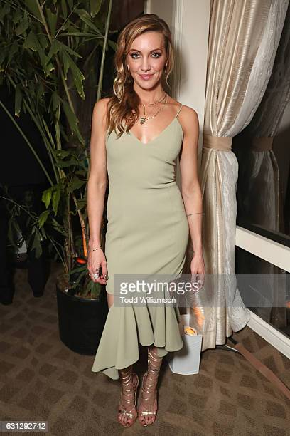 Actress Katie Cassidy attends Amazon Studios Golden Globes Celebration at The Beverly Hilton Hotel on January 8 2017 in Beverly Hills California