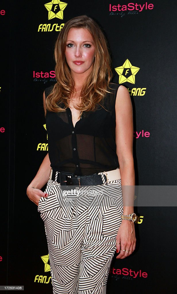 Actress Katie Cassidy attends meeting with fans at Parkyard Hotel on July 2, 2013 in Shanghai, China.