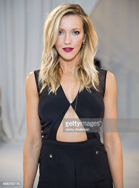 Actress Katie Cassidy attends the Gabriela Cadena fashion show during Spring 2016 New York Fashion Week The Shows at The New York Public Library on...