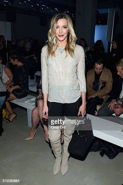 Actress Katie Cassidy attends the Jenny Packham Fall 2016 fashion show during New York Fashion Week The Shows at The Gallery Skylight at Clarkson Sq...