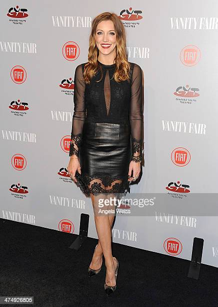 Actress Katie Cassidy attends the Vanity Fair Campaign Hollywood 'Young Hollywood' party sponsored by Fiat at No Vacancy on February 25 2014 in Los...