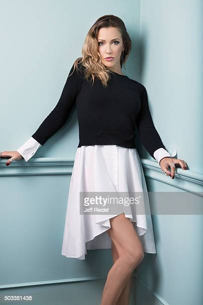 Actress Katie Cassidy is photographed for TV Guide Magazine on January 17 2015 in Pasadena California