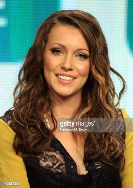 Actress Katie Cassidy speaks at the 'Arrow' discussion panel during the CW portion of the 2012 Summer Television Critics Association tour at the...