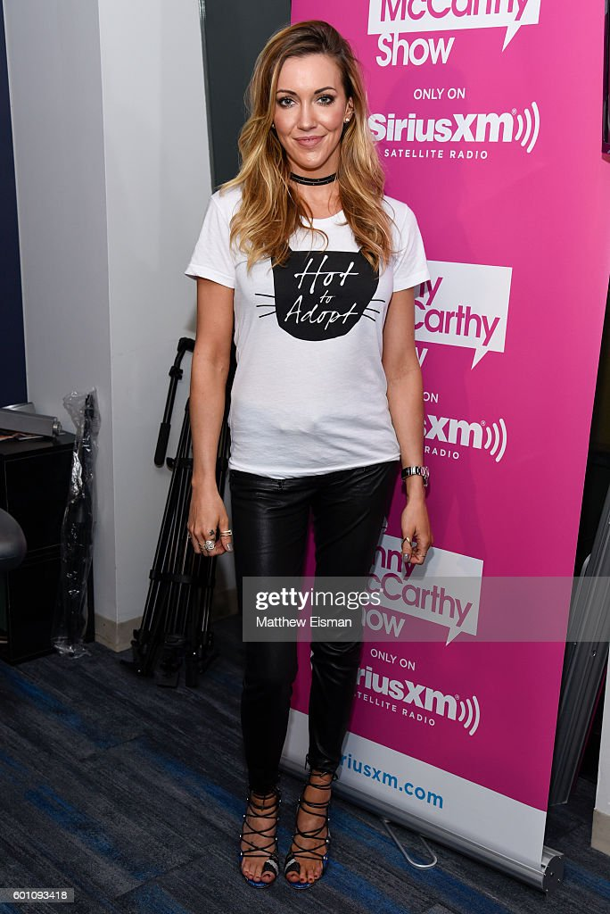 Actress Katie Cassidy visits SiriusXM Studio on September 9, 2016 in New York City.