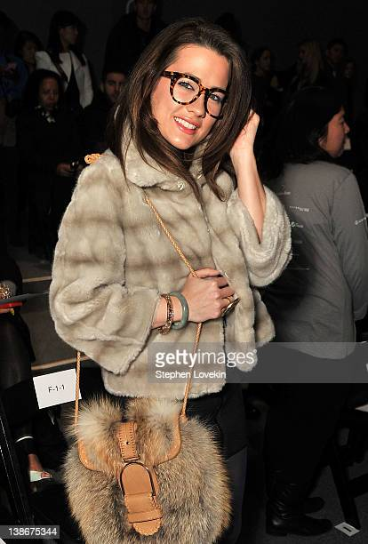 Actress Katie Chonacas attends the General Idea Fall 2012 fashion show during MercedesBenz Fashion Week at The Studio at Lincoln Center on February...