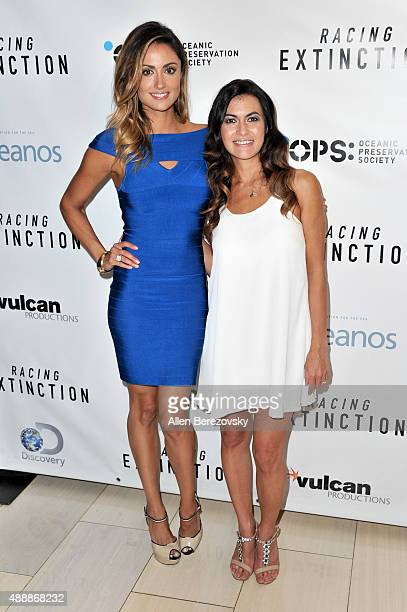 Actress Katie Cleary and Leilani Munter attend the Premiere of Discovery Channel's Racing Extinction at The London West Hollywood on September 17...