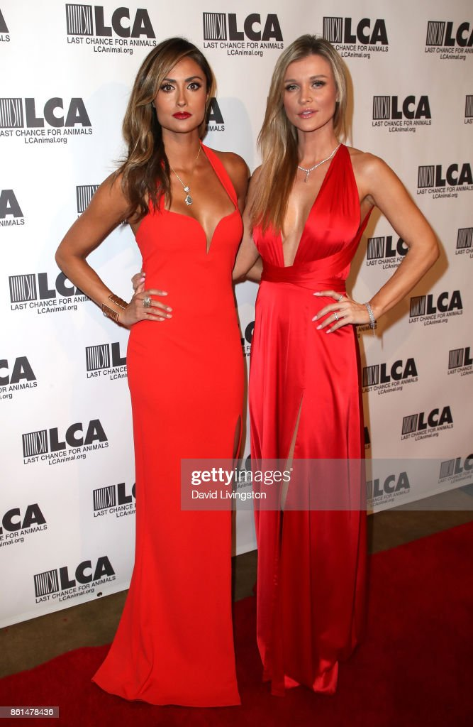 Actress Katie Cleary (L) and model Joanna Krupa attend Last Chance for Animals 33rd Annual Celebrity Benefit Gala at The Beverly Hilton Hotel on October 14, 2017 in Beverly Hills, California.