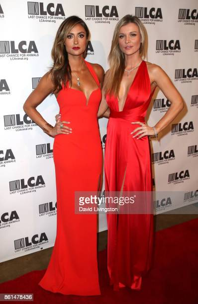 Actress Katie Cleary and model Joanna Krupa attend Last Chance for Animals 33rd Annual Celebrity Benefit Gala at The Beverly Hilton Hotel on October...