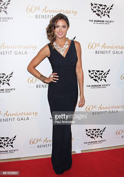 Actress Katie Cleary attends the Humane Society Of The United States 60th Anniversary Benefit Gala at The Beverly Hilton Hotel on March 29 2014 in...