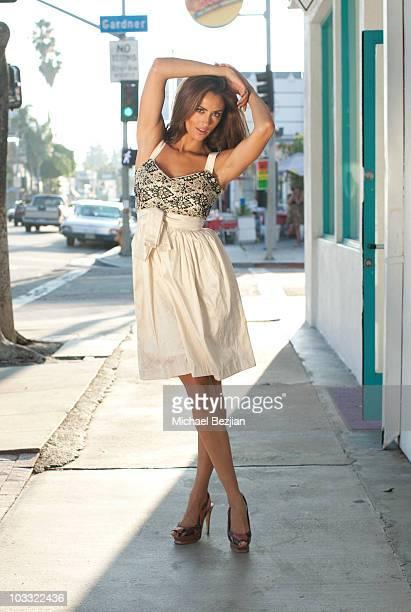 ANGELES CA AUGUST 09 Actress Katie Cleary poses for portrait at Designer Lauren Elaine Celebrity Preview Lounge Portrait Session at La Maison de...