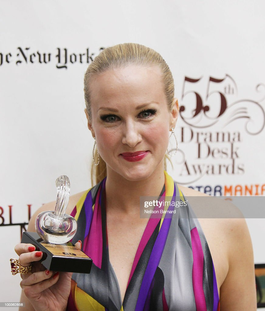 Actress Katie Finneran arrives at the 55th Annual Drama Desk Award at FH LaGuardia Concert Hall at Lincoln Center on May 23, 2010 in New York City.