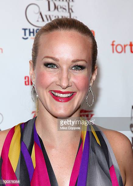 Actress Katie Finneran arrives at the 55th Annual Drama Desk Awards at the FH LaGuardia Concert Hall at Lincoln Center on May 23 2010 in New York City