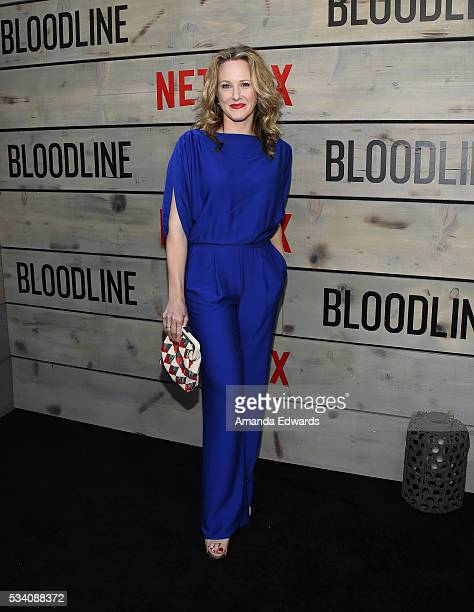 Actress Katie Finneran arrives at the premiere of Netflix's 'Bloodline' at The Landmark Regent Theater on May 24 2016 in Westwood California