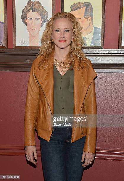 """Actress Katie Finneran attends Broadway's """"It's Only a Play"""" cast photo call at Sardi's on January 13, 2015 in New York City."""