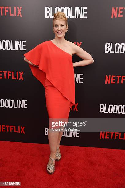 Actress Katie Finneran attends the 'Bloodline' New York Series premiere at SVA Theater on March 3 2015 in New York City