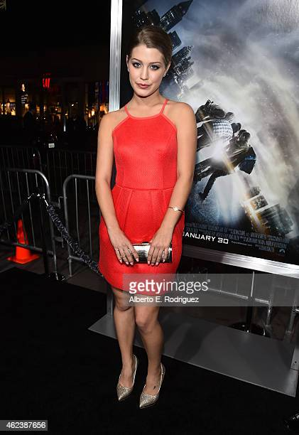 Actress Katie Garfield attends the premiere of Paramount Pictures' Project Almanac at TCL Chinese Theatre on January 27 2015 in Hollywood California