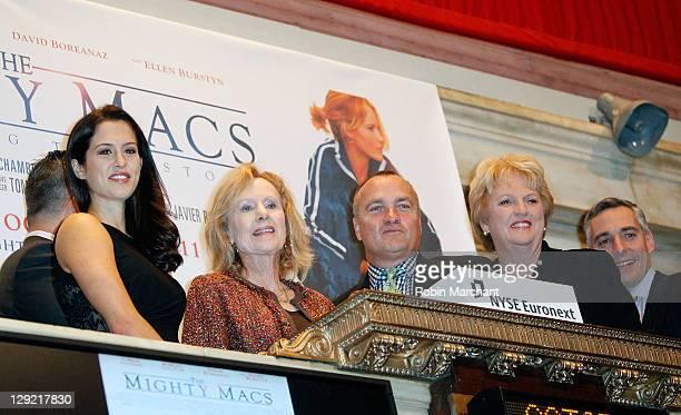 Actress Katie Hayek Women's Baskeball Pioneer Cathy Rush Director and CoWriter of The Mighty Macs Tim Chambers and Real Mighty Mac Theresa Grentz...
