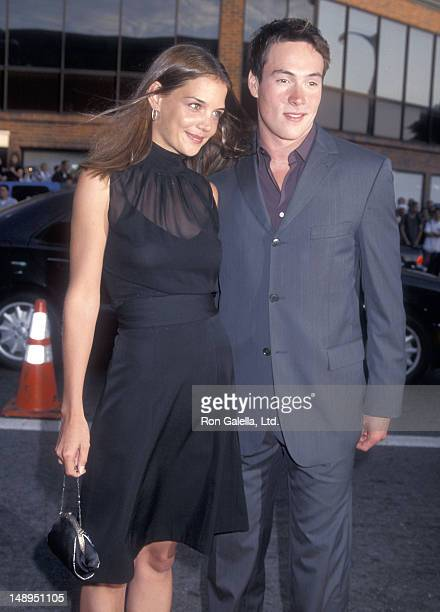 Actress Katie Holmes and actor Chris Klein attend the 'American Pie 2' Westwood Premiere on August 6 2001 at the Mann National Theatre in Westwood...