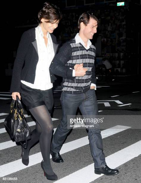Actress Katie Holmes and Actor Tom Cruise go out for dinner on October 5 2008 in New York City