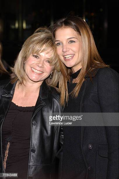 Actress Katie Holmes and and actress MaryMargaret Humes arrive at the celebration for the 100th episode of Dawsons Creek February 19 2002 at the...