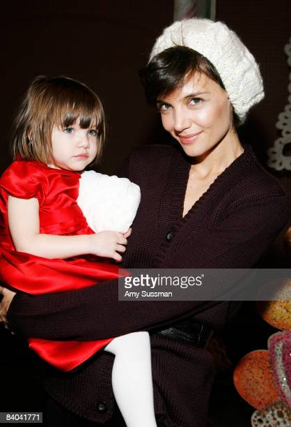 Actress Katie Holmes and her daughter Suri visit 'The Nutcracker' at the New York City Ballet on December 14 2008 in New York City