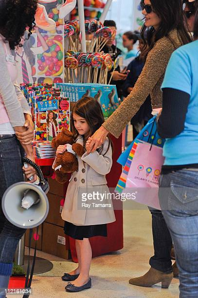 Actress Katie Holmes and Suri Cruise shop in Dylan's Candy Bar on April 13 2011 in New York City
