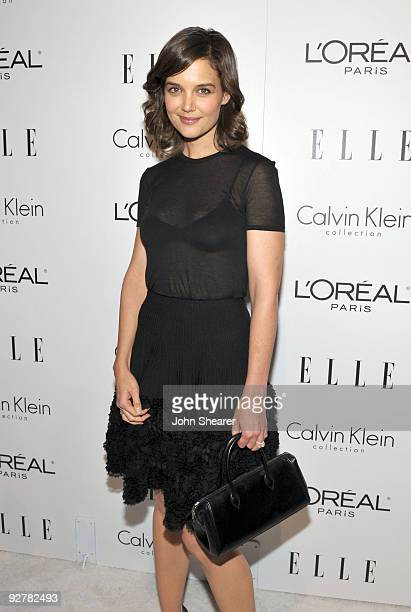 Actress Katie Holmes arrives at the 16th Annual ELLE Women in Hollywood Tribute held at the Four Seasons Hotel on October 19 2009 in Beverly Hills...