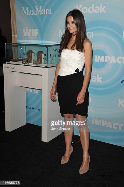 Actress Katie Holmes arrives at the 2011 Women In Film Crystal + Lucy Awards with presenting sponsor PANDORA jewelry at the Beverly Hilton Hotel on...