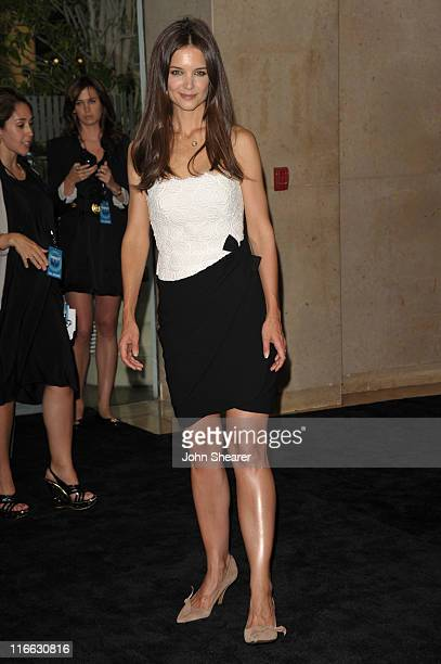Actress Katie Holmes arrives at the 2011 Women In Film Crystal Lucy Awards with presenting sponsor PANDORA jewelry at the Beverly Hilton Hotel on...