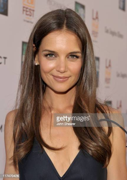 Actress Katie Holmes arrives at the Don't Be Afraid of The Dark Closing Night Gala screening during the 2011 Los Angeles Film Festival held at the...