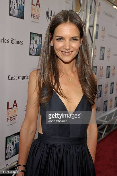 Actress Katie Holmes arrives at the 'Don't Be Afraid of The Dark' Closing Night Gala screening during the 2011 Los Angeles Film Festival held at the...