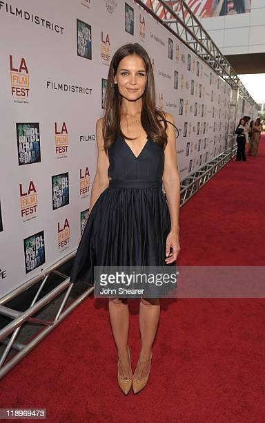 "Actress Katie Holmes arrives at the ""Don't Be Afraid of The Dark"" Closing Night Gala screening during the 2011 Los Angeles Film Festival held at the..."