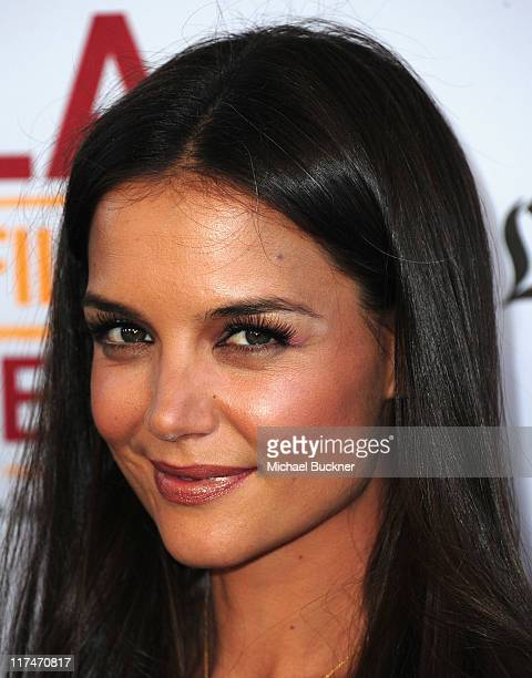 Actress Katie Holmes arrives at the Los Angeles Film Festival's Closing Night premiere of Don't Be Afraid Of The Dark at Regal Cinemas LA Live on...