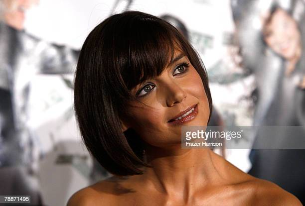 """Actress Katie Holmes arrives at the premiere of Overture Films' """"Mad Money"""" held at Mann Village Theater on January 9, 2008 in Westwood, California."""