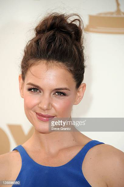 Actress Katie Holmes arrives to the 63rd Primetime Emmy Awards at the Nokia Theatre LA Live on September 18 2011 in Los Angeles United States