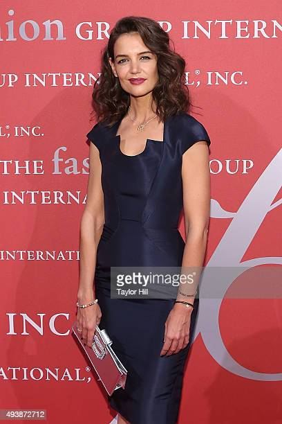 Actress Katie Holmes attends Fashion Group International's 2015 Night of Stars The Revolutionaries at Cipriani Wall Street on October 22 2015 in New...