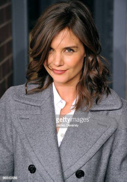 Actress Katie Holmes attends Hermes Men's Store opening on Madison Avenue on February 9, 2010 in New York City.