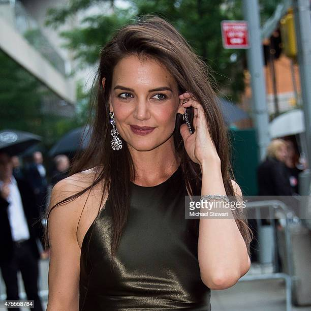 Actress Katie Holmes attends the 2015 CFDA Fashion Awards Sightings at Alice Tully Hall at Lincoln Center on June 1 2015 in New York City