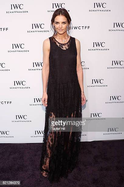 Actress Katie Holmes attends the 4th Annual IWC Schaffhausen 'For The Love Of Cinema' Dinner at Spring Studios on April 14 2016 in New York City