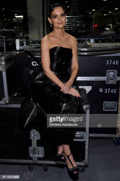 Actress Katie Holmes attends the 60th Annual GRAMMY Awards at Madison Square Garden on January 28 2018 in New York City