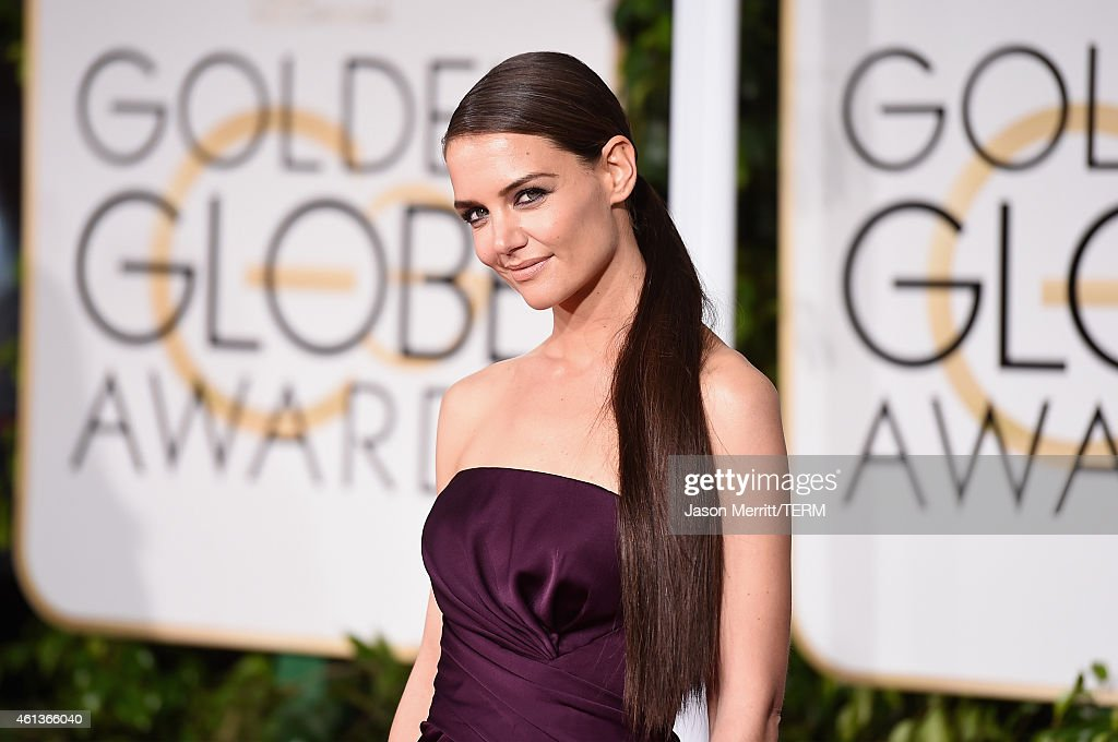 Actress Katie Holmes attends the 72nd Annual Golden Globe Awards at The Beverly Hilton Hotel on January 11, 2015 in Beverly Hills, California.