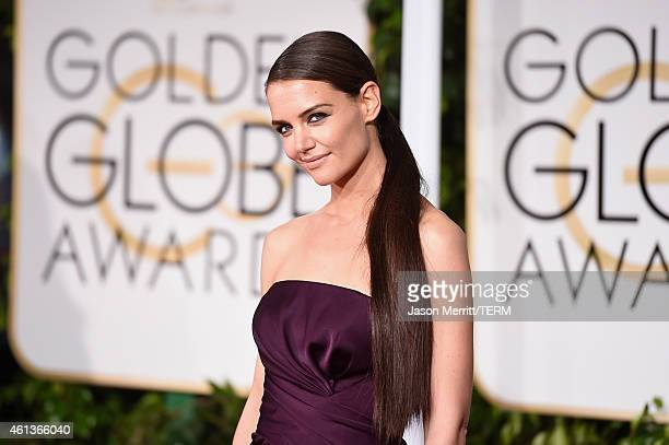 Actress Katie Holmes attends the 72nd Annual Golden Globe Awards at The Beverly Hilton Hotel on January 11 2015 in Beverly Hills California