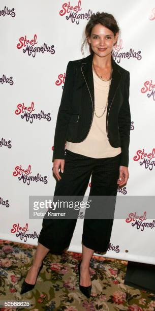 """Actress Katie Holmes attends the after party for the opening night of """"Steel Magnolias"""" on Broadway on April 4, 2005 in New York City."""