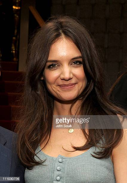 Actress Katie Holmes attends the after party for The ReelzChannel World premiere of The Kennedys at AMPAS Samuel Goldwyn Theater on March 28 2011 in...