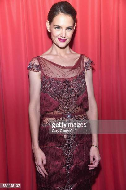 Actress Katie Holmes attends the American Heart Association's Go Red for Women Red Dress Collection during February 2017 New York Fashion Week at...