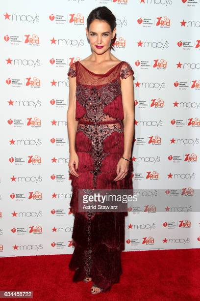 Actress Katie Holmes attends the American Heart Association's Go Red For Women Red Dress Collection 2017 presented by Macy's at Fashion Week in New...